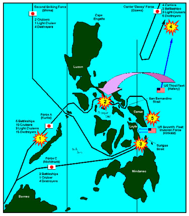 Map of the Philippines World War II