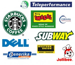 Famous local and international companies in the Philippines